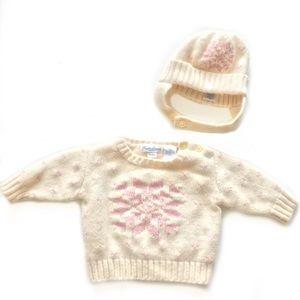 Ralph Lauren Lambswool Sweater Hat Set 0-3 Months